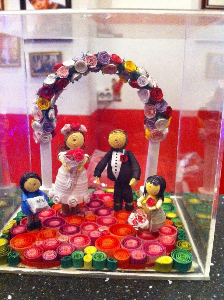 3D quilling  Wedding