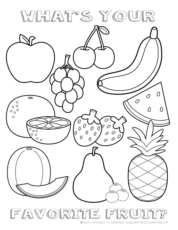 Coloring.rocks! Kindergarten Coloring Pages, Fruit Coloring Pages, Vegetable  Coloring Pages