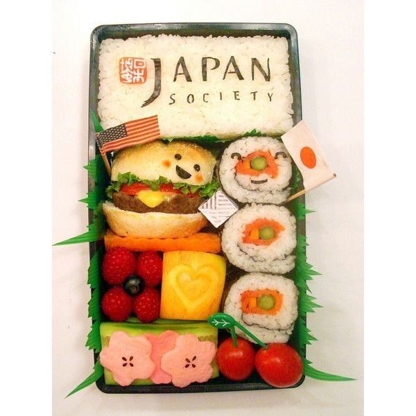 Japan Society Bento #47 (Explored #48/500!) ❤ liked on Polyvore featuring home and kitchen & dining