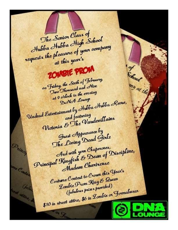 zombie prom invite halloween - Zombie Halloween Invitations