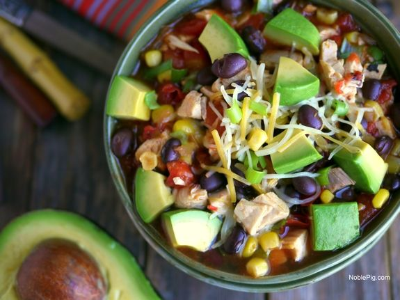 15 Minute Mexican Chicken Soup with Avocado - a quick dinner when you need it