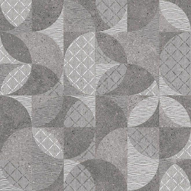 DL601000R Фондамента серый декорированный обрезной 60*60 керамический гранит