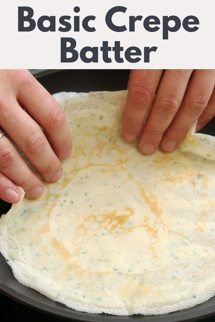 This right here is your basic, go-to crepe batter, for sweet or savory applications. It can be whipped up in mere seconds in a blender, or whisked together by hand, and—contrary to popular belief—does not require resting before cooking. Fill it with the ingredients of your choice: butter and jam, ham and egg, spinach and cheese, and more.