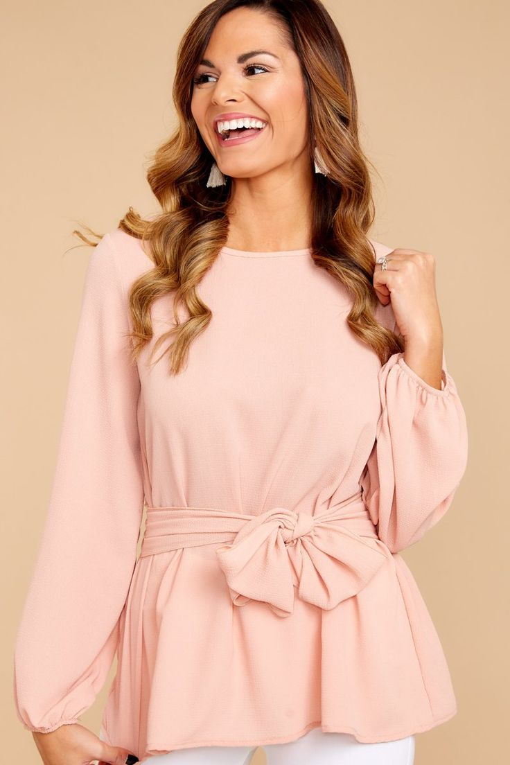 Flirty Pink Top - Blush Pink Top - Classy Top - $28.00 – Red Dress Boutique