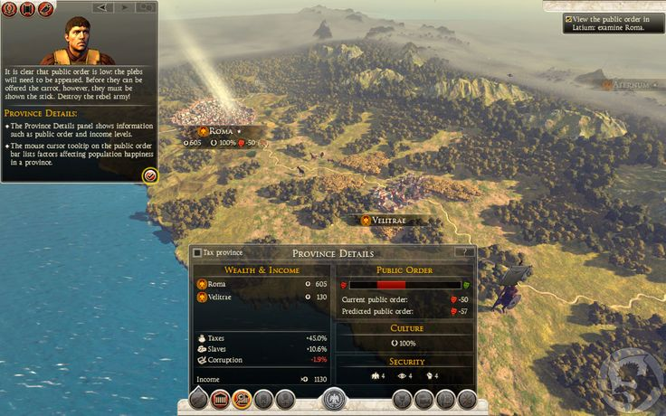Total War: Rome II — Province view