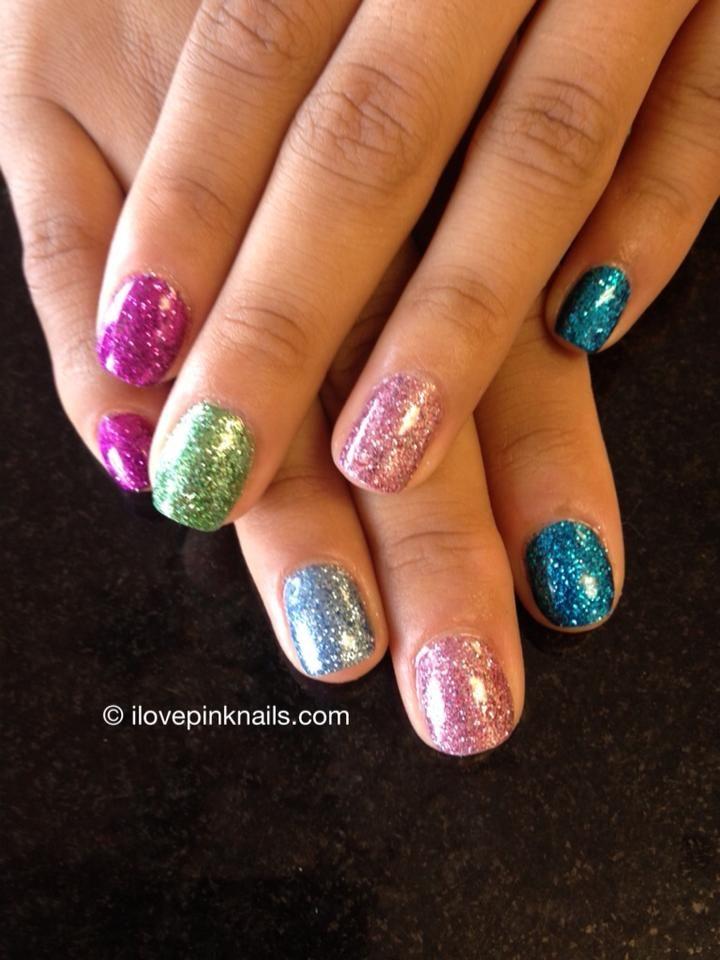 Multi Color Rock Star Nails #glitter #nails DIY NAIL ART DESIGNS