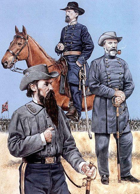 Major-General William Mahone • Major-General John Gordon • Major-General Richard Anderson