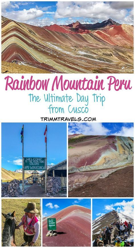 If you are going to Cusco, Machu Picchu shouldn\'t be the only item on your bucket list. It may be like comparing apples to oranges, but Rainbow Mountain Peru is every bit as mesmerizing and truly shouldn\'t be missed! #rainbowmountain #peru #cusco #daytrip #guide #travel