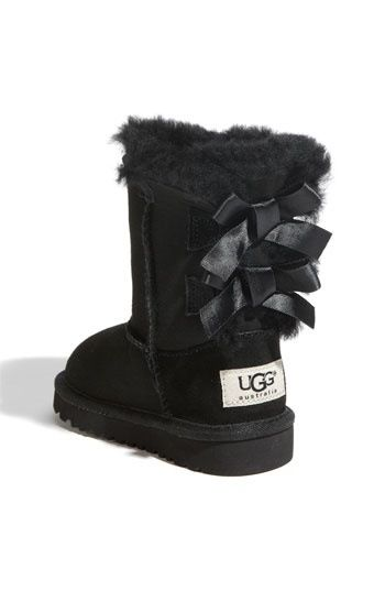 black uggs with bows