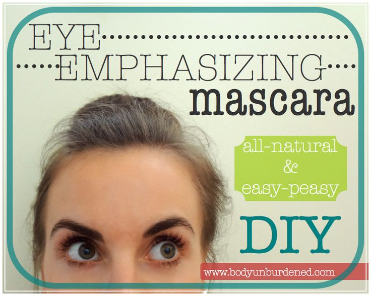 DIY all-natural eye emphasizing mascara