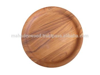 Teak Wood Dinner Plates Collection By Mahadev Wood Industries