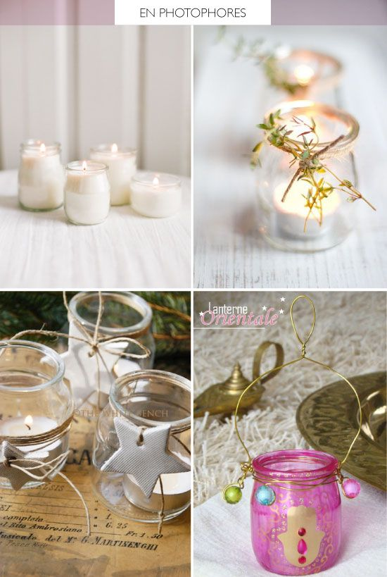 Diy avec des pots de yaourt d co pinterest yogurt for Pot en verre deco
