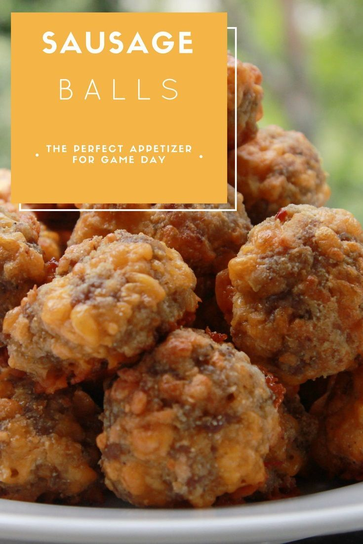 Easy, tasty appetizer for your next tailgate or watch party! #appetizer #sausageballs #entertaining #partyfood