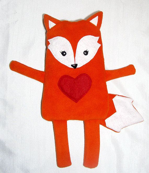 Sewing Pattern Fox Hot Water Bottle Cover by MyColourfulTexture