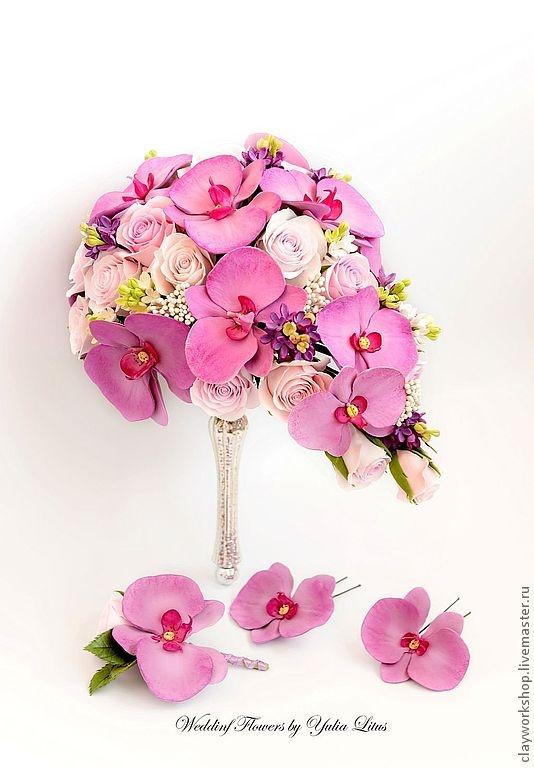 Цветы ручной работы. Ярмарка Мастеров - ручная работа Букет невесты с орхидеями фаленопсис. Handmade.