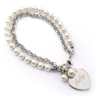 Bracelet - Pearls and Link Chain #MothersDay