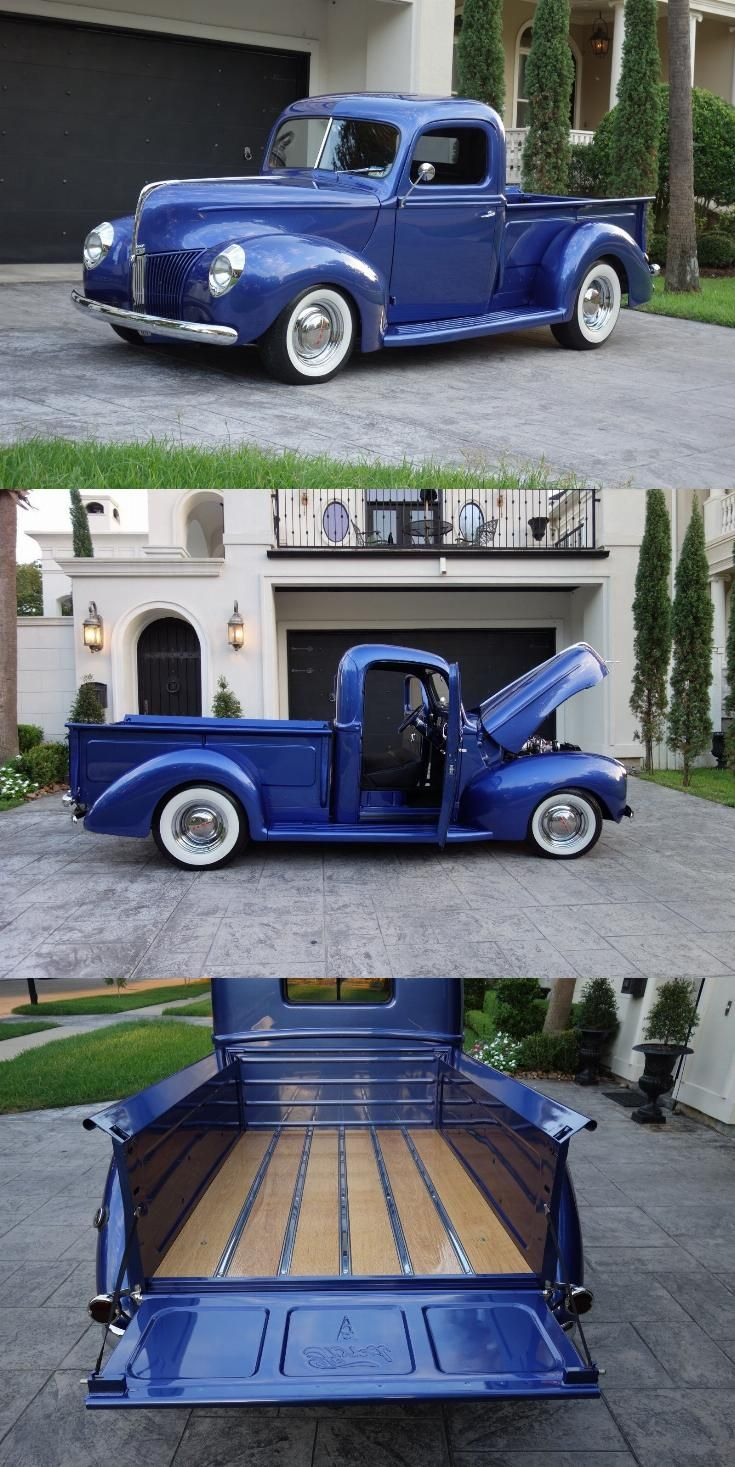 Extremely Straight 1940 Ford Pickups Vintage Ford Pickup Pickup Trucks Classic Cars Trucks