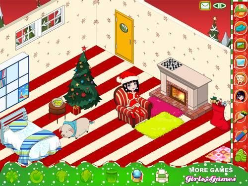 My Xmas Room. Decorate the room for Christmas.