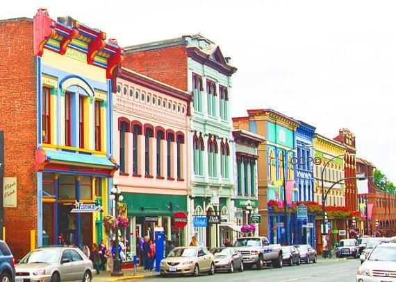 Victoria British Columbia Rainbow Street Canada by Celticcatphotos. $18.00, via Etsy.