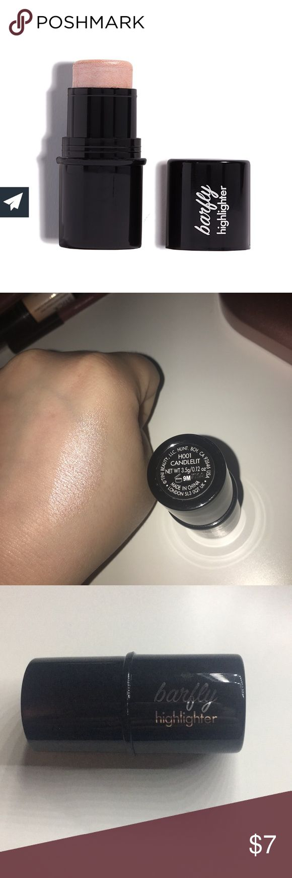 Candlelit Barfly Highlighter Brand new. Only swatched for picture. Beautiful pink shimmery color. Barfly Makeup Luminizer
