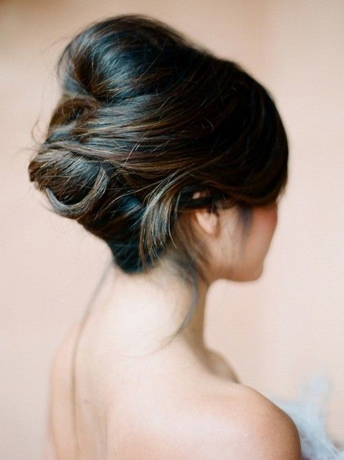 Hair idea: Like having the interesting tuck detail in the back of this beehive