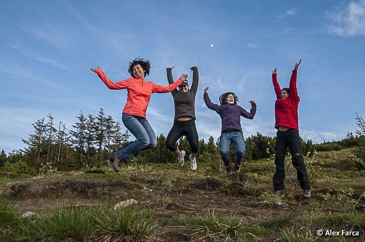 Joy on the mountain