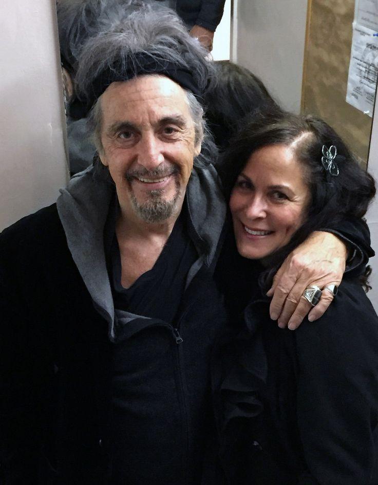 Al Pacino backstage with Roberta Pacino after his Nov 18, 2015 performance of CHINA DOLL.