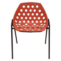 40 Stacking Chairs Design by Pierre Guarich for Meurop Belgium, 1960