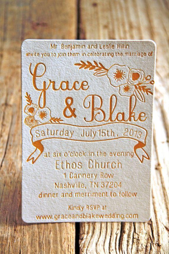415 best letterpress wedding invitation images on Pinterest ...
