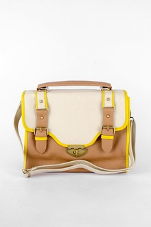 Two of my favorite springtime trends- yellow/tan and piping!: Saddles Satchel, Order, Style, Joining Toby, Rad Bags, Yellow Tans, Women, Products, Yellow Trim