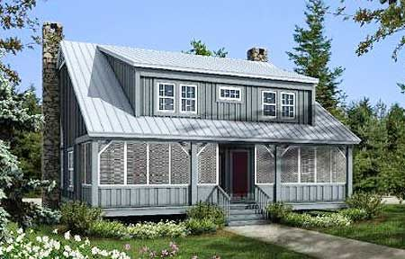 Plan 58555sv Big Rear And Front Porches Front Porches