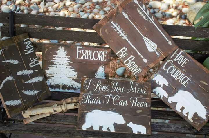 Our Rustic Woodland Signs- Now Available
