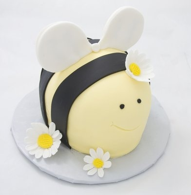Bee Smash Cake for Baby's First Birthday.  This adorable cake accompanied a larger bee hive cake!