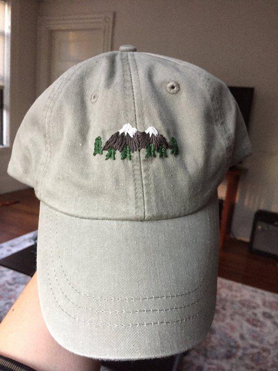 Hand Embroidered Dad Hat Custom Etsy Diy Embroidery Shirt Hat Embroidery Embroidered Hats