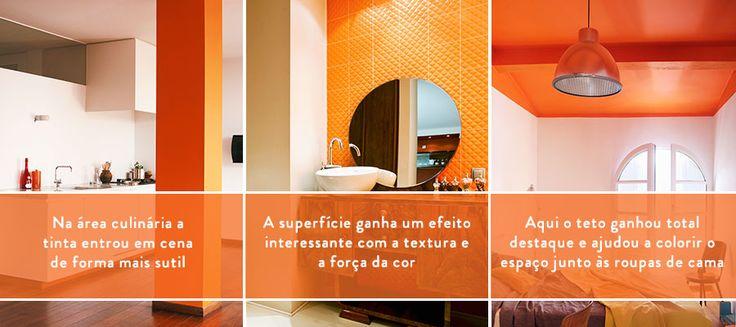 Decoração de paredes laranja