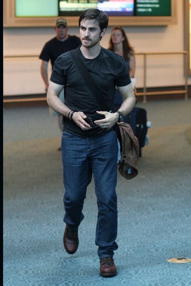 Colin O'Donoghue Seen at Vancouver Airport on July 21, 2013