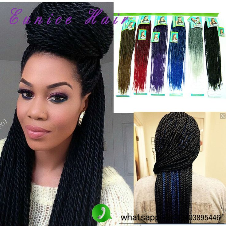 Pre Twisted Hair Senegalese Cheap Synthetic Hair Black