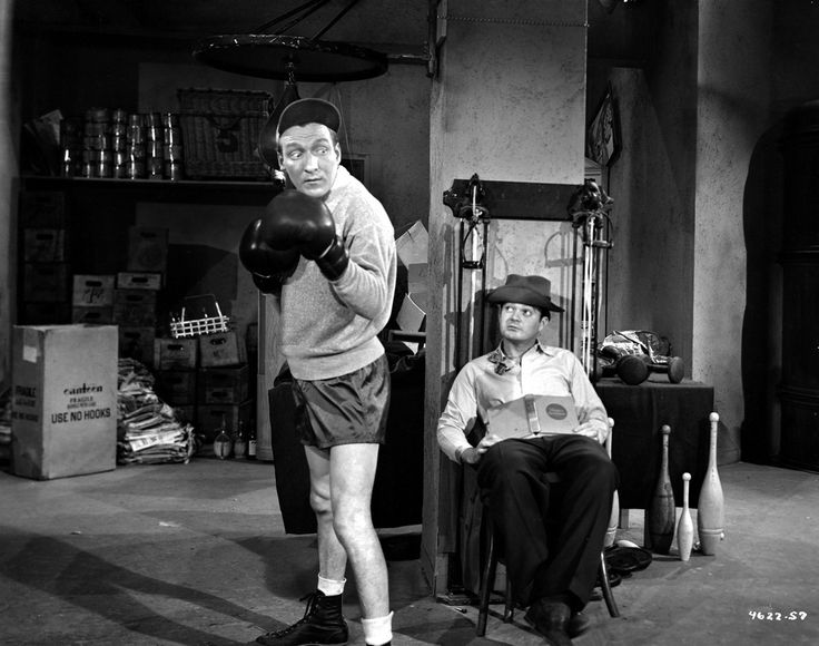 Dead End Kids Cast Member Practicing Boxing in Black and White Premium Art Print