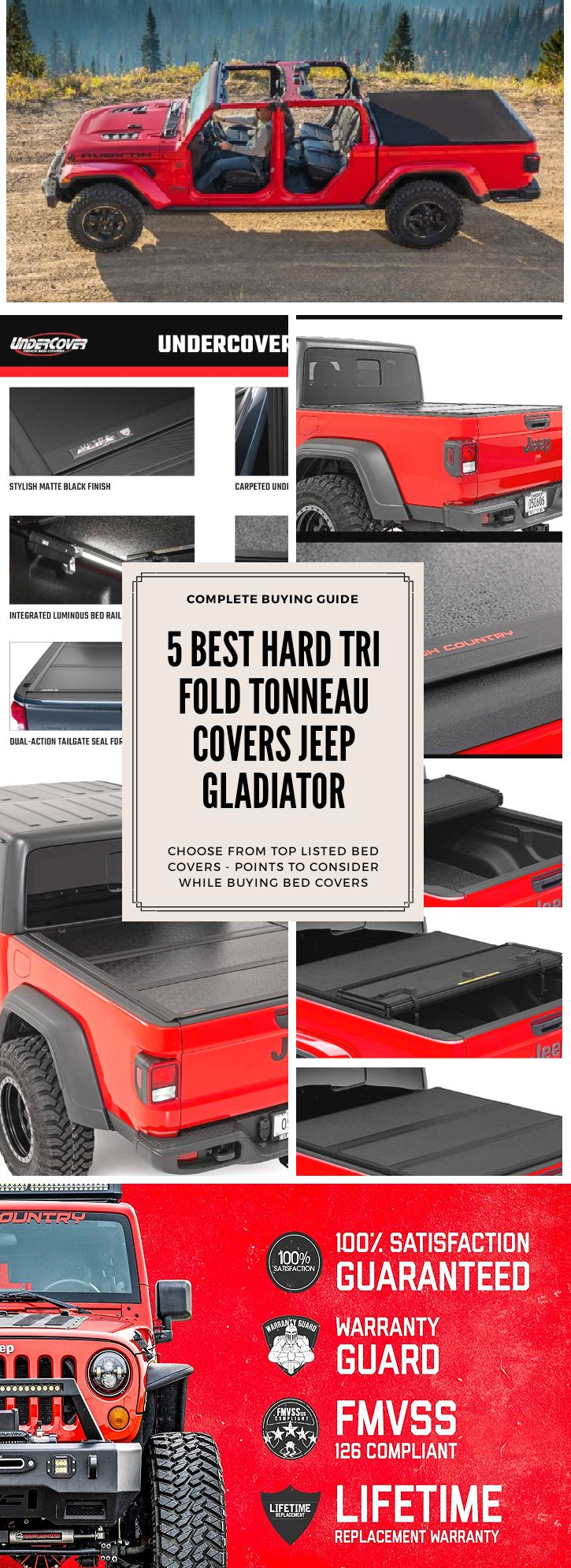 5 Top Rated Hard TriFold Tonneau Cover for Jeep Gladiator