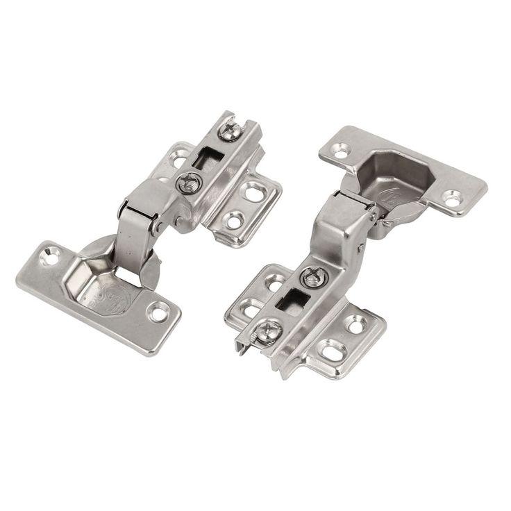 inset cabinet door hinges. unique bargains105mmx63mmx33mm metal (grey) concealed self close inset cabinet door hinges 2pcs