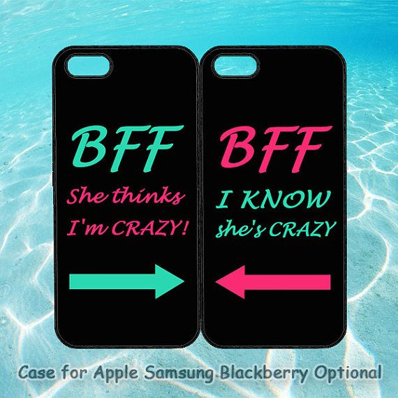 Best Friends BFF in Pairs for iphone 5 case, iphone 4 case, ipod 4, ipod 5, note 2, Samsung S3, Samsung galaxy S4, blackberry z10, q10 on Etsy, $28.00