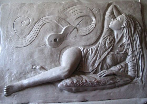 Images about sculptured bas relief wall art on