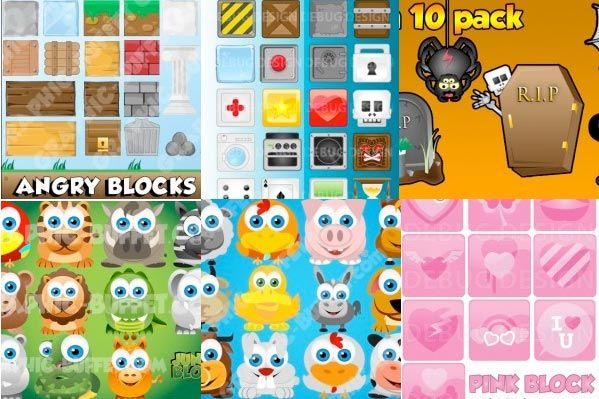 Blocks Multipack | Game Graphics for Block Games | Graphic Buffet