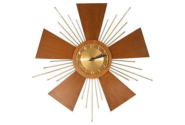 Midcentury Starburst Wall Clock on OneKingsLane.com