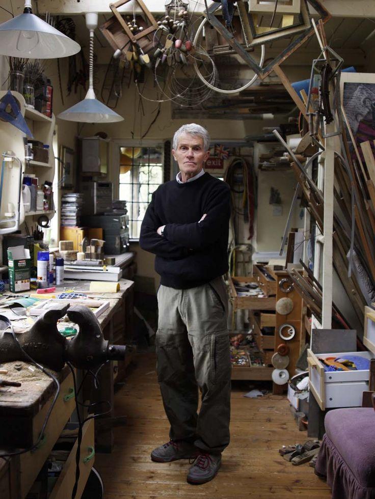 Jim Tucker, assemblage artist, Surrey Artists Open Studios