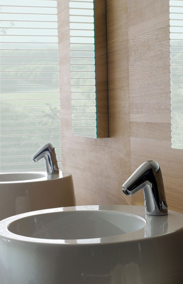 Touchless washbasin faucet Alessi One. Smart faucets.