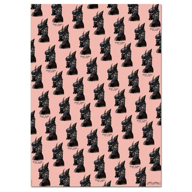 Chase And Wonder Foxy Lady Wrapping Paper
