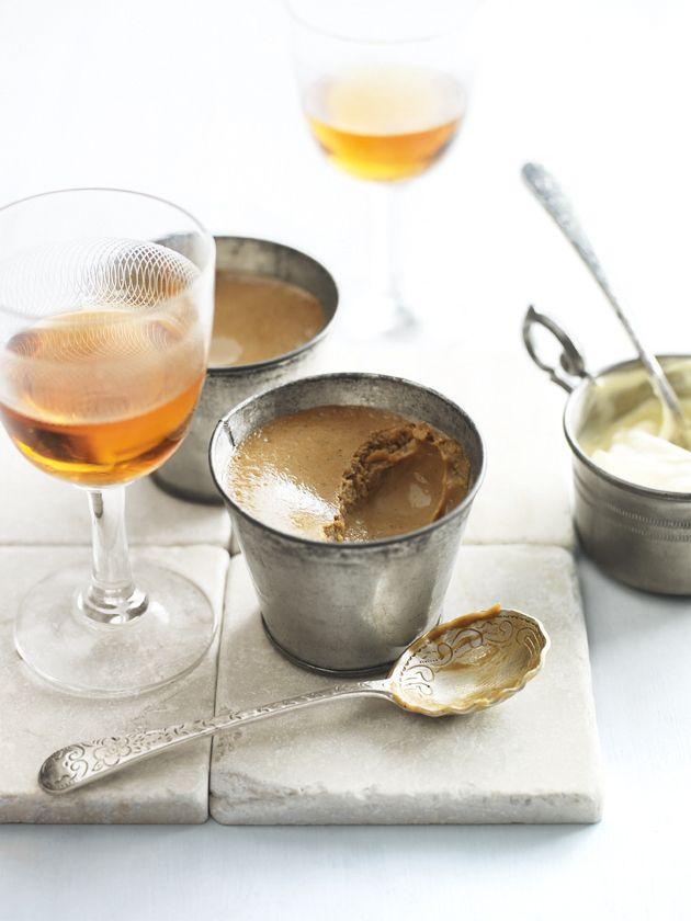cardamom and coffee custards
