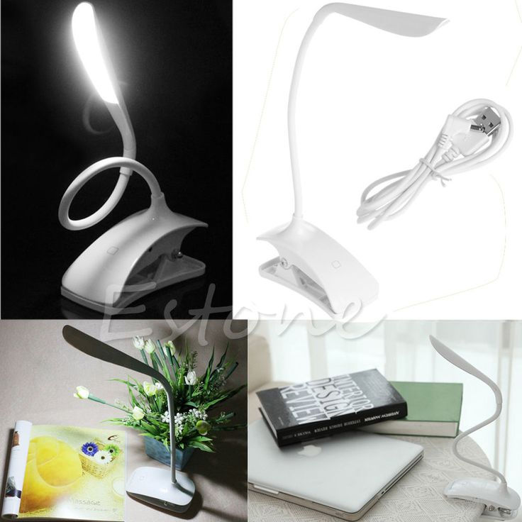 Rechargeable Touch Sensor 14 LED Clip-On Desk Table Dimmable Reading Light Lamp #Unbranded
