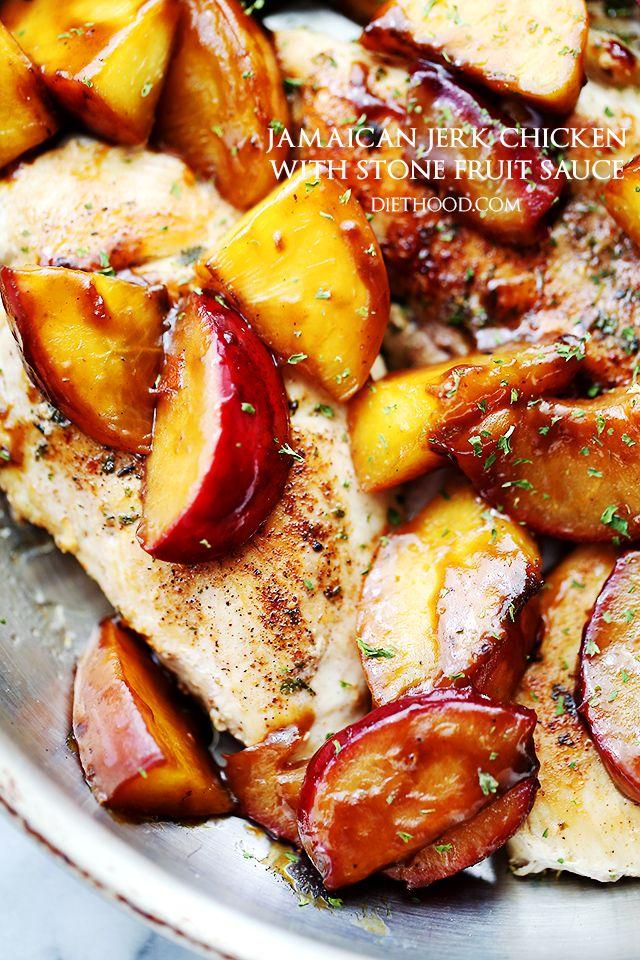 Jamaican Jerk Chicken with Stone Fruit Sauce Recipe FoodBlogs.com